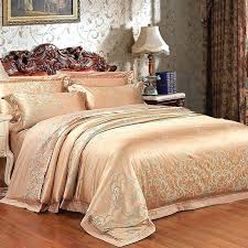 metallic gold bedding traditional metallic gold and sage green vintage pattern scroll print luxury jacquard satin metallic gold bedding