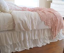 romantic tiered ruffle dust ruffle bed skirt by tickingandtoile 250 00 king i