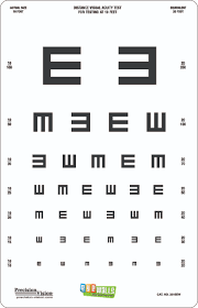 Eyewalls Peel Stick Tumbling E Translucent Distance Chart