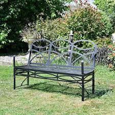 the dudley wrought iron garden bench