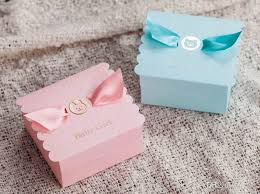 Pink Tiny Feet Favor Box  12 Pcs  Baby Shower Favors Packaging Boxes For Baby Shower Favors
