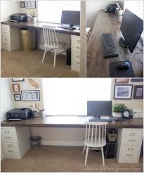 DIY computer desk case, designs, for small spaces, for two, ideas,