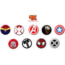 Online Badge Marvel Endgame Button Badges Collection Set Of 9