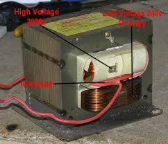 tesla coil nsts mots a microwave transformer mot
