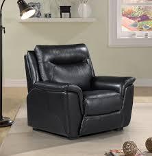 helen black leather armchair