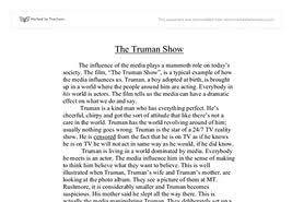 the truman show essay questions  the truman show essay questions