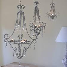 beaded tealight chandelier outdoor chandeliers