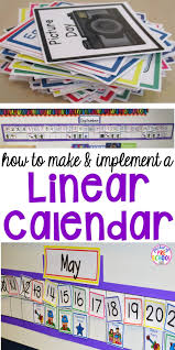 How To Make And Implement A Linear Calendar Pocket Of