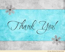 snowflake thank you cards winter snowflake thank you cards one der land