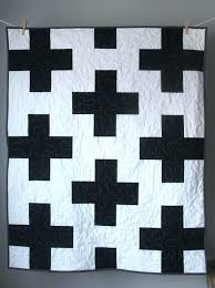 image 0 black and white toddler bedding pink quilt plus baby