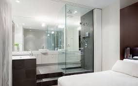 glass bathroom ideas attached with bedroom master bedroom incredible open bathroom