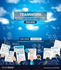 Describe Teamwork Teamwork Business Concept With Doodles Sketch Vector Image