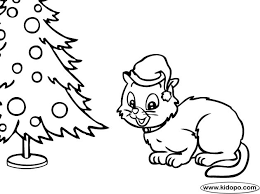 Christmas Cat Coloring Pages Printable Cat Coloring Pages Cat