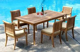 image of teak patio set dining