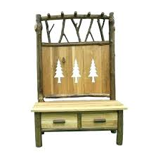 Coat Rack Uk Impressive Entryway Storage Bench With Coat Rack Log Wood And Twig Hall Tree