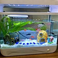 Cartoon House Fish Tank Aquarium Ornament Spongebob Squidward Pineapple
