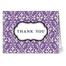 purple note cards amazon com 24 thank you note cards damask purple blank cards