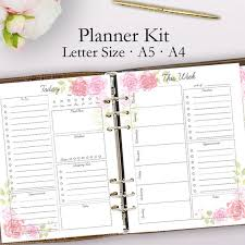 Daily Planner Printables 2020 Planner Printable Daily Planner Pages Weekly Planner 2020 Weekly Printable Planner Goals Daily Plan Letter A5 A4 Instant Download