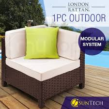 brown outdoor corner sofa by london rattan