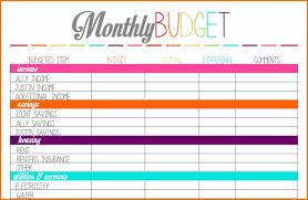 Free Printable Budget Worksheet Template And 7 Free Printable Bud
