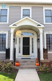 Heavenly Images Of Beautifully Decorated Front Porch Design Ideas :  Astounding Small Front Porch Decoration With