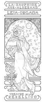 Alphonse Mucha Coloring Pages 1000 Images About Mucha On Princess Leia Coloring Book L