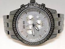 men s jojo rodeo watches 2 25 ct new mens jojo jojino joe rodeo metal 56 black diamond watch mj