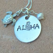 hawaiian jewelry hawaiian necklace pineapple necklace aloha pineapple necklace hawaii aloha necklace natashaaloha
