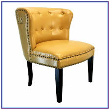 teal studded accent chair