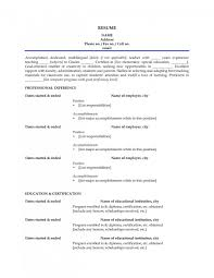 Sample Resume For Indian Teachers Without Experience Resume Corner