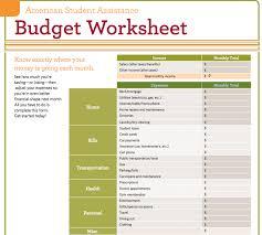 basic budget worksheet college student college student budget worksheet answers pdf spreadsheet excel