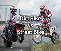 dirt bike vs street bike what is the