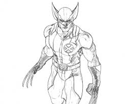 Small Picture Get This Free Picture of Wolverine Coloring Pages mbYjg