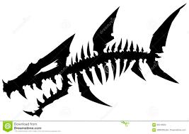 скелет рыб изверга черного графического силуэта мертвый с косточками