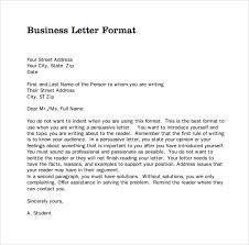 Business Form Letter Format Scrumps