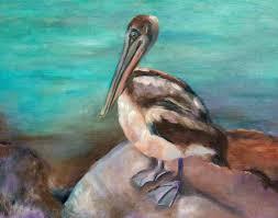 pelican painting wall art beach decor pelican art for beach house bird art paintings of birds beach life ocean artwork coastal art