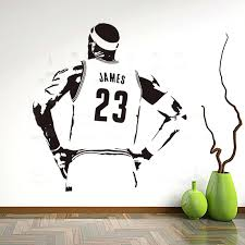basketball wall decor art design vinyl home decoration basketball player figure wall sticker removable house decor room decals in wall stickers from