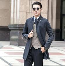 grey pea coat men black grey winter youth wool coat trench coats slim casual coat overcoat for fashion pea coats big size s in wool blends from