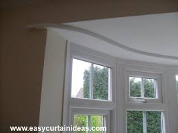 bay window treatments inside curtain rods for windows