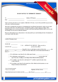 printable 30 day notice