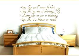 wall art writing arts bedroom personalised full size of decor