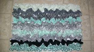 bathroom rug mat bath kitchen ruffle teal rugs