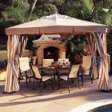 A Gazebo Canopy with Curtains