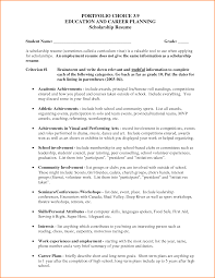 Scholarship Resume Examples Inspiration Resume Examples for Scholarships About 100 Resume for 17