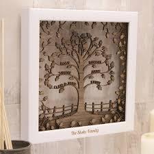 wooden 3d family tree in grey oak