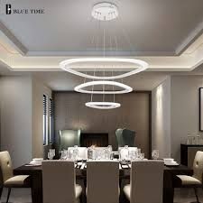 perbezaan harga modern led ceiling light for living room bedroom dining room luminaire rings acrylic hanging