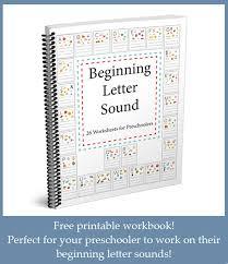 Beginning Letter Sounds Worksheets >> One Beautiful Home Blog