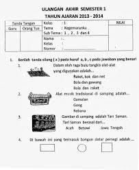 Soal ipa kelas 1 sd.pdf. Pin Di Document