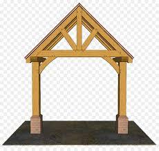 gable roof porch facade house wooden truss