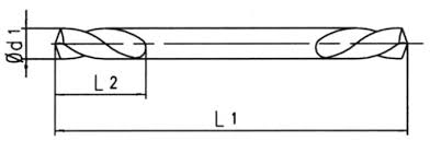 بیت های مته HSS کاملاً زمینی برای اندازه های 2 میلی متر - 6 میلی متر دو سر  دو فلزی